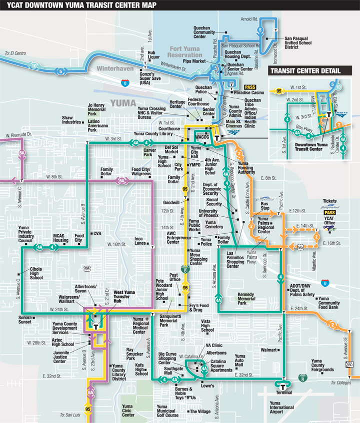 Street Map Of Yuma Arizona.System Map Ycat